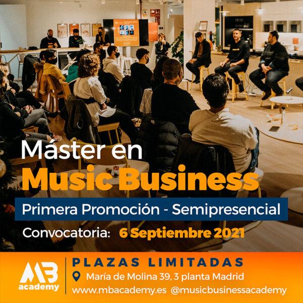 master semipresencial en music business